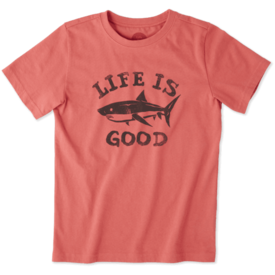 Life is Good Boys Crusher Tee, Shark