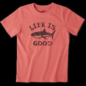 Life is Good Boys Crusher Tee, Shark