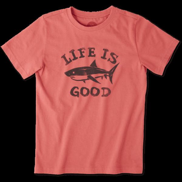 Life is Good Boys Crusher Tee Life is Good Shark