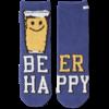 Womens Plush Snuggle Crew Socks, Beer Happy