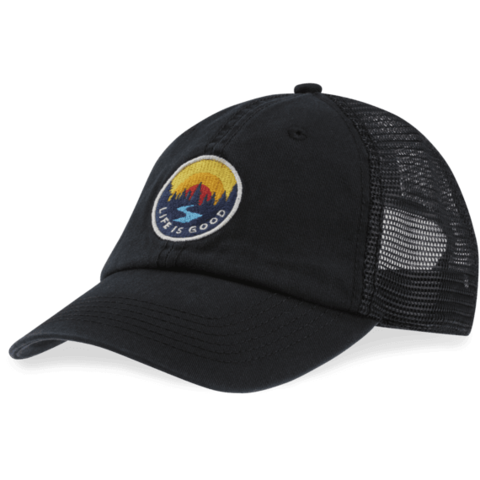 Soft Mesh Back Chill Cap, Sunset, Night Black
