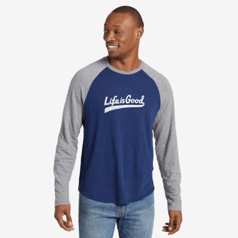Men's VIntage Baseball L/S, Life is Good