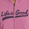Womens Simply True Zip Hoodie Life is Good