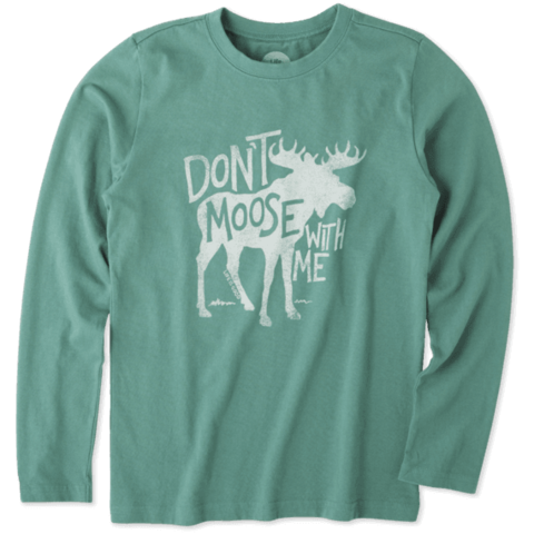 Boys L/S Crusher Tee, Don't Moose with Me