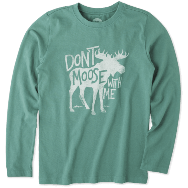 Life is Good Boys L/S Crusher Tee, Don't Moose with Me