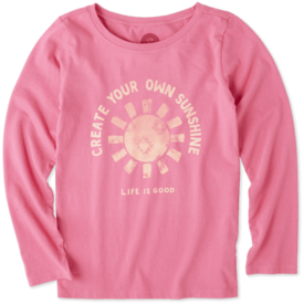 Life is Good Girls L/S Crusher Tee, Create Your Own Sunshine