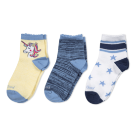 Life is Good Girls 3-Pack Socks, Unicorn