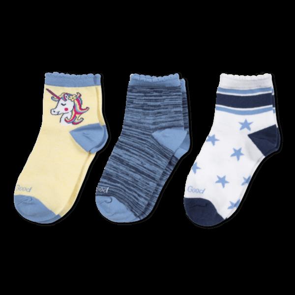 Life is Good Girls 3-Pack Socks, Unicorn