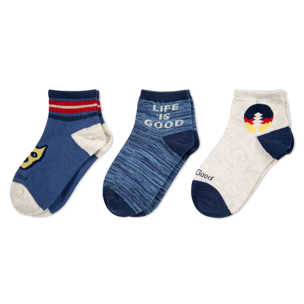 Life is Good Boys 3-Pack Socks, Rocket