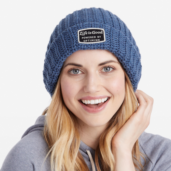 Life is Good Braided Beanie Powered by Optimism