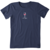 Women's Crusher Tee Vintage Wine Glass