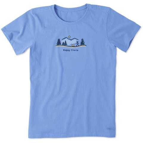 Womens Crusher Tee, Vintage Happy Trails