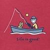 Men's Crusher Tee, Vintage Fishing Jake Rocket