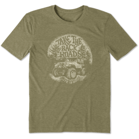 Men's Cool Tee, Back Roads