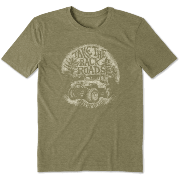 Men's Cool Tee, Take the Back Roads