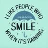 Womens Crusher Vee, Smile When it's Raining