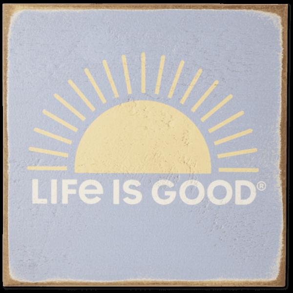Life is Good Wooden Sign, LIG Sun