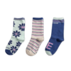 Girls 3-Pack Socks, Daisy