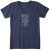Womens Crusher Vee Wine a Little, Laugh a Lot