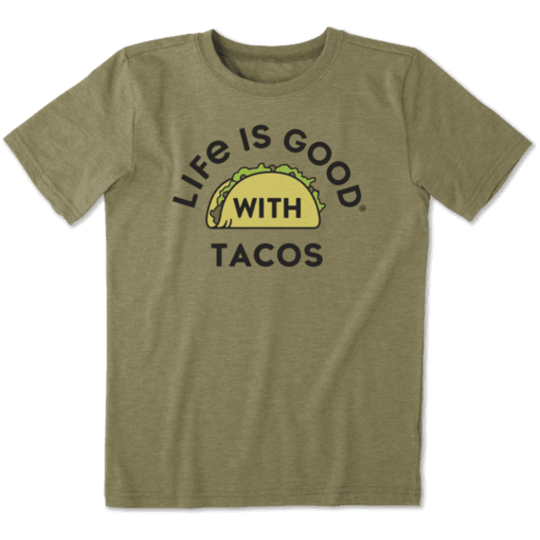 Life is Good Boys Cool Tee Life is Good with Tacos