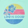 Girls Smooth Tee Life is Good Hibiscus