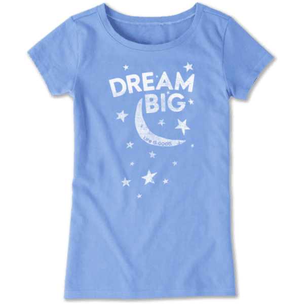 Life is Good Girls Crusher Tee Dream Big Moon & Stars