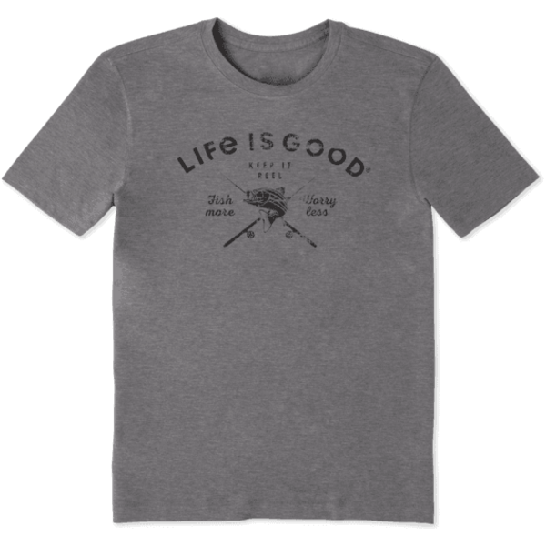 Men's Cool Tee, Fish More Worry Less