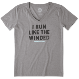 Life is Good Womens Cool Vee, Run Like Winded