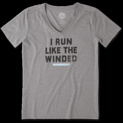 Womens Cool Vee, Run Like Winded