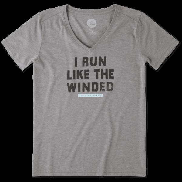 Life is Good Womens Cool Vee Run Like Winded