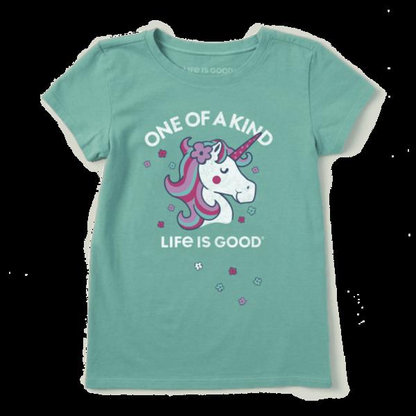 Life is Good Girls Crusher Tee, One of a Kind Unicorn