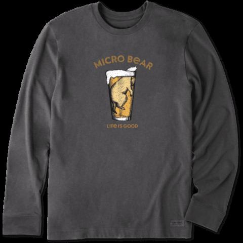 Men's Crusher L/S Tee, Micro Bear