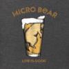 Men's Crusher L/S Tee Micro Bear