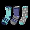 Girls 3-Pack Crew Socks, Bee Positive Daisy