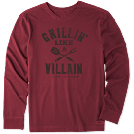Life is Good Men's Crusher L/S Tee, Grillin' Like a