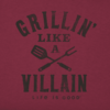 Men's Crusher L/S Tee Grillin' Like a Villain