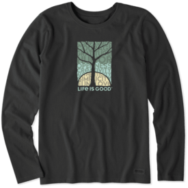 Life is Good Womens Crusher L/S Tee, Natural Superpowers