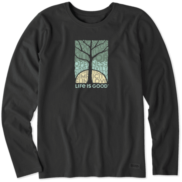 Life is Good Womens Crusher L/S Tee Natural Superpowers