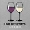 Womens Crusher L/S Tee  Red & White Wine