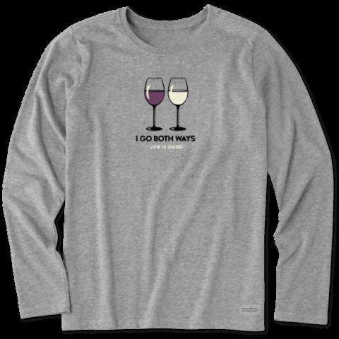 Womens Crusher L/S Tee, Red & White Wine