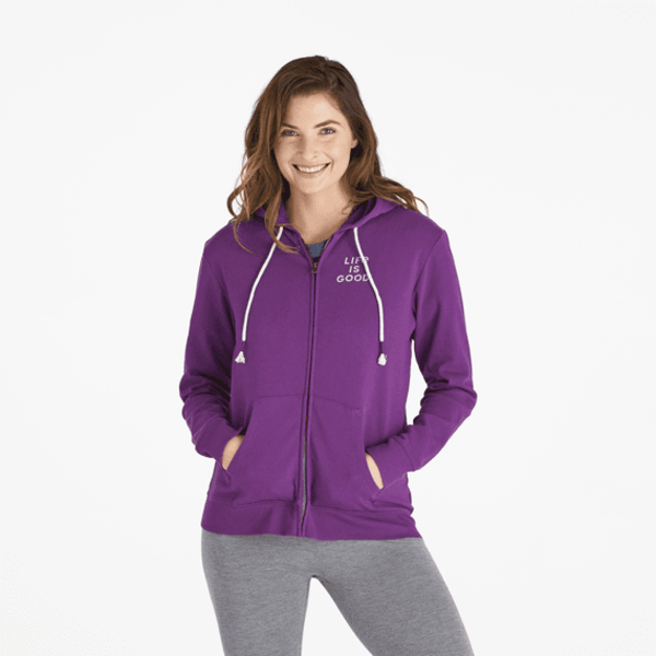 Life is Good Womens Simply True Zip Hoodie, Moon Scenic