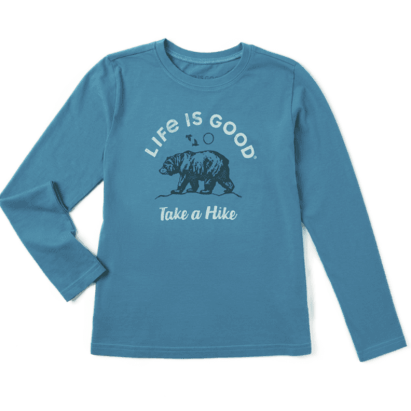 Life is Good Boys L/S Crusher Tee, Take A Hike Bear