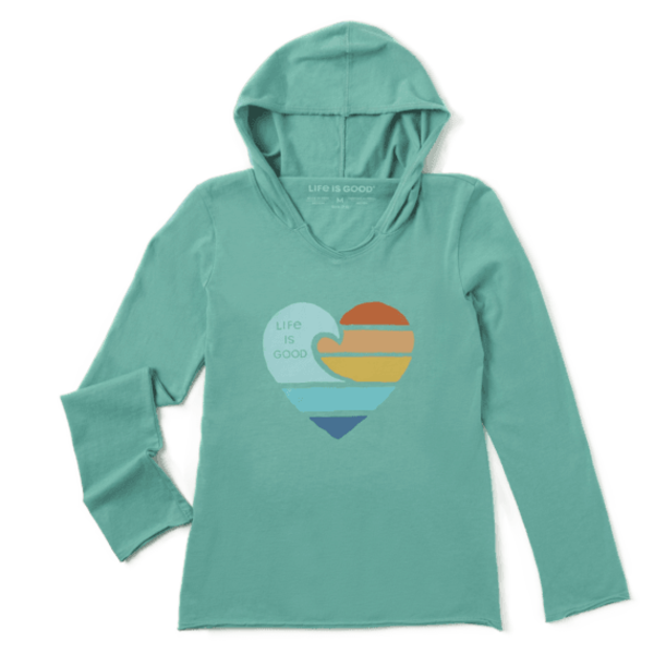 Life is Good Girls L/S Hooded, Clean Beach Heart
