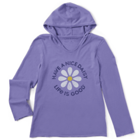 Life is Good Girls L/S Hooded, Have A Nice Daisy