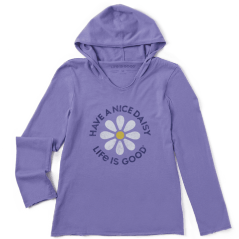Girls L/S Hooded, Have A Nice Daisy