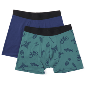 Life is Good Men's Knit Boxer Brief Set, Outdoor Action