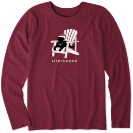 Life is Good Womens Crusher L/S Tee, Winter Dog Days
