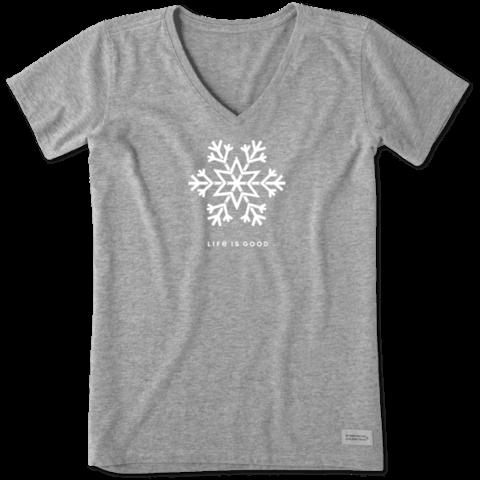 Womens Crusher Vee, Snowflake LIG