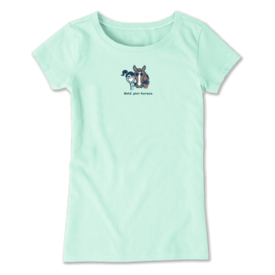 Life is Good Girls Crusher Tee, Hold Your Horses