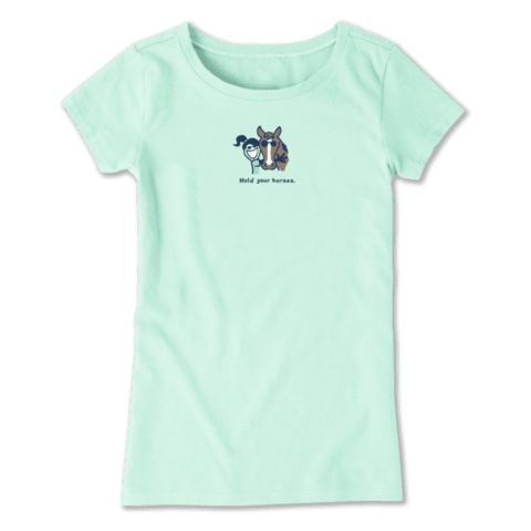Girls Crusher Tee, Hold Your Horses